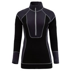 Black Spyder Elevation Half Zip Baselayer Top (Women\'s)