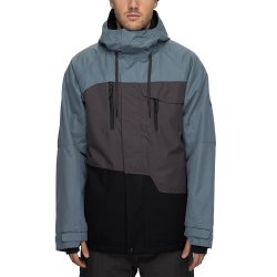 Goblin Blue Colorblock 686 Geo Insulated Snowboard Jacket (Men\'s)