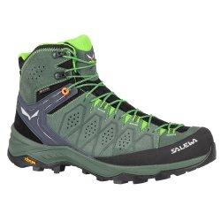 Raw Green/Pale Frog Salewa Alp Trainer 2 Mid GORE-TEX Hiking Boot (Men\'s)