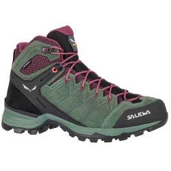 Duck Green/Rhododendon Salewa Alp Mate Mid Waterproof Hiking Boot (Women\'s)