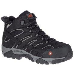 Black Merrell Vertex Mid Waterproof Comp Toe Hiking Boot (Men\'s)