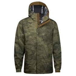 Military Olive Cloud Camo The North Face Venture 2 Rain Jacket (Men\'s)