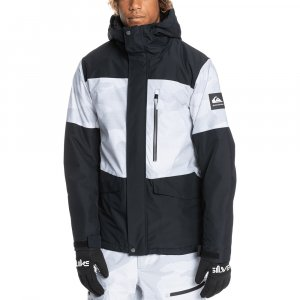 Quiksilver Mission Printed Block Insulated Snowboard Jacket (Men's)