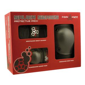 Triple 8 Saver Series 3 Pack Wrist, Elbow, and Knee Pads (Adults' & Kids')