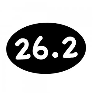 Image of 26.2 Marathon Car Magnet