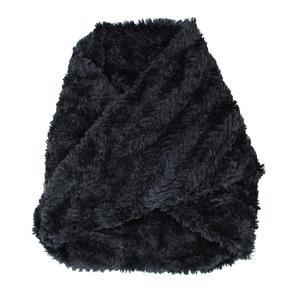 Image of Elan Blanc Faux Fur Chevron Infinity Scarf (Women's)