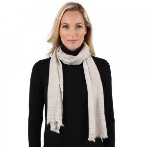 Image of Elan Blanc Cashmere Woven Muffler Scarf (Women's)