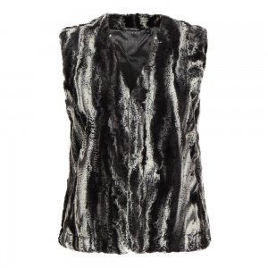 Sno Skins Faux Fur Short Vest (Women's)