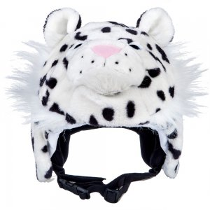 Image of crazeeHeads Zippy the Snow Leapord Helmet Cover (Kids')