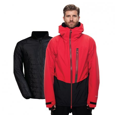 686 GLCR GORE-TEX Smarty 3-in-1 Weapon Snowboard Jacket (Men's) - Red Colorblock
