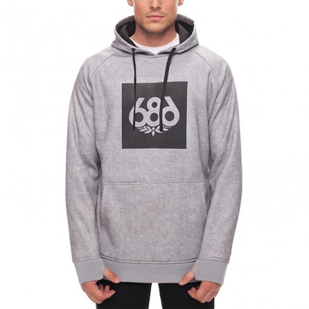 686 Knockout Bonded Fleece Pullover Hoody (Men's) - Heather Grey