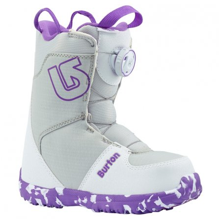 Burton Grom Boa Snowboard Boots (Little Kids') - White/Purple