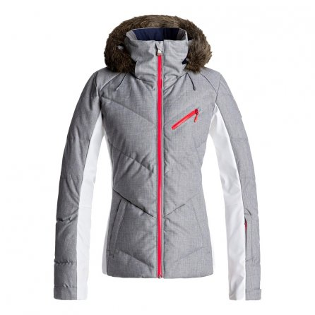 Roxy Snowstorm Down Snowboard Jacket (Women's) - Heritage Heather