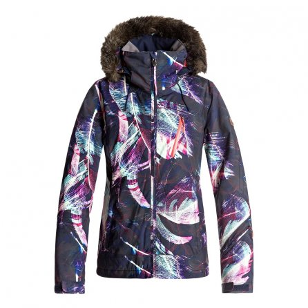 Roxy Jet Ski Premium Insulated Snowboard Jacket (Women's) - Peacoat/Seamless Feathers