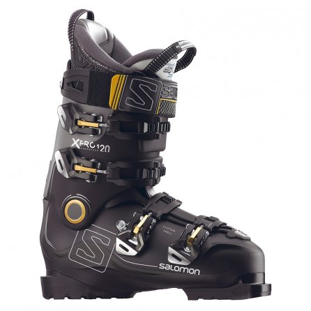 Salomon X Pro 120 Ski Boots (Men's) - Black/Metallic Black/Gold