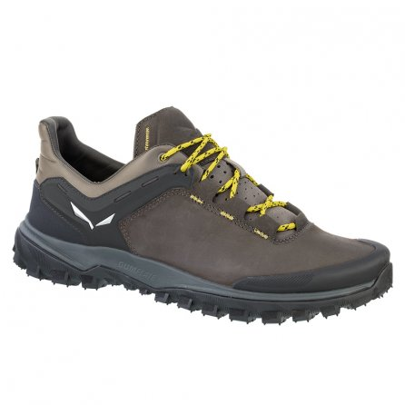 Salewa Wanderer Hiker Leather Shoe (Men's) - Black Olive/Bergot
