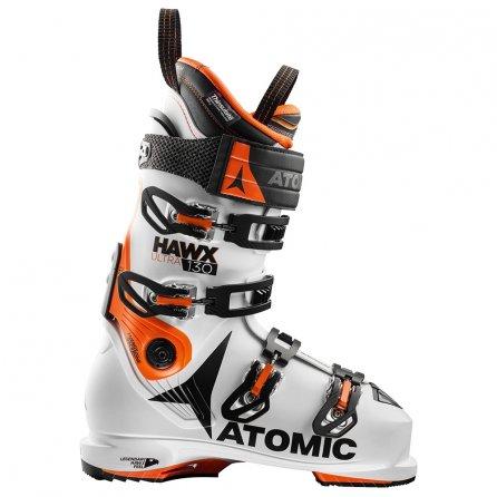 Atomic Hawx Ultra 130 Ski Boots (Men's) - White/Orange/Black