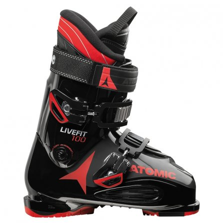 Atomic Live Fit 100 Ski Boot (Men's) - Black/Anthracite/Red