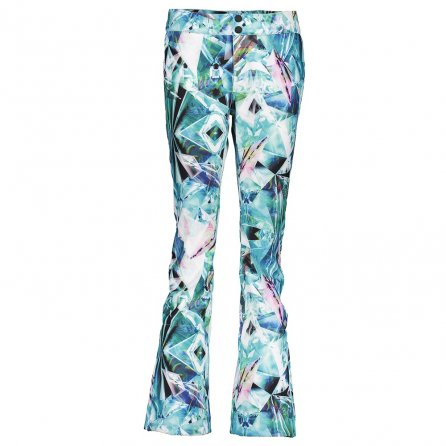 Obermeyer Printed Bond Softshell Ski Pant (Women's) - Aqua Aura