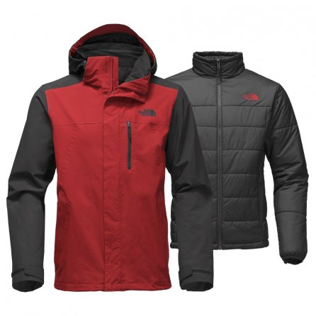 The North Face Carto Triclimate Jacket (Men's) - Cardinal Red/Asphalt Grey