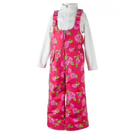 Obermeyer Snoverall Print Ski Pant (Little Girls') - It's Snowing Roses Print