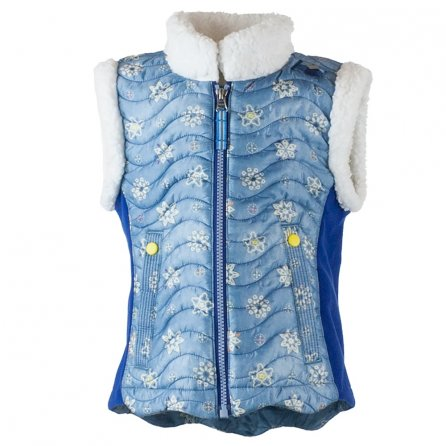 Obermeyer Snuggle Up Vest (Little Girls') - Blue Frost Crystals Print