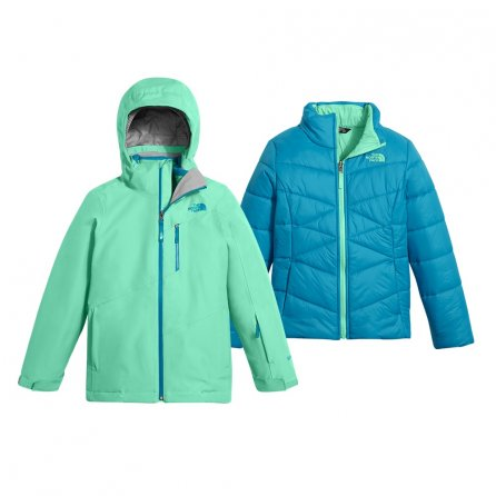 The North Face Fresh Tracks Triclimate Jacket (Girls') - Bermuda Green