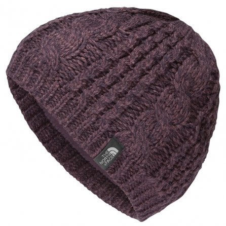 The North Face Cable Minna Beanie (Women's) - Black Plum