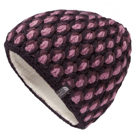 The North Face Briar Beanie (Women's) - Dark Eggplant Purple/Black Plum