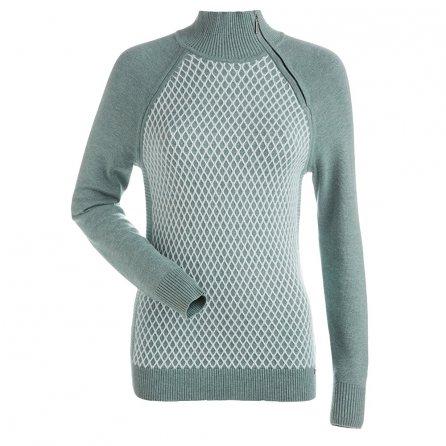 Nils Sigrid Crew Sweater (Women's) - Celedon/White
