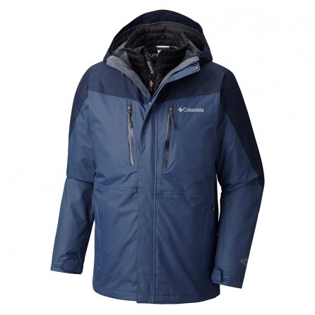Columbia Calpine 3-in-1 Ski Jacket (Men's) - Dark Mountain/Collegiate Navy