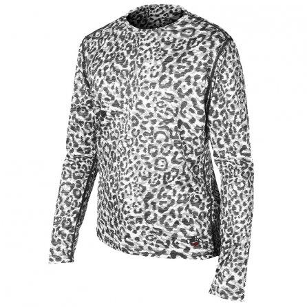 Hot Chillys Peachskin Print Crew Neck Baselayer (Kids') - Snow Leopard