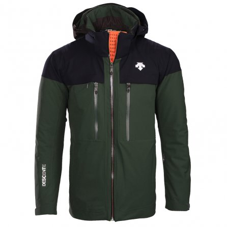 Descente Cypher Ski Jacket (Men's) - Winter Moss/Black/Blaze Orange