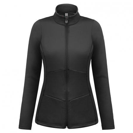 Poivre Blanc Stretch Fleece Full Zip Mid-Layer (Women's) - Black