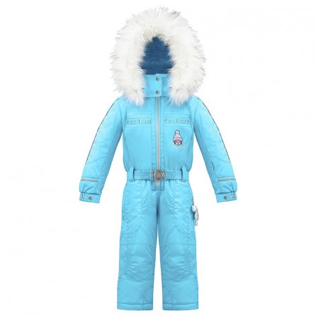 Poivre Blanc Ski Overall with Faux Fur (Little Girls') - Azure Blue