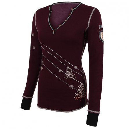 Alp-N-Rock Traverse Henley Shirt (Women's) - Bordeaux
