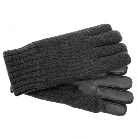 UGG Knit Smart Winter Glove with Leather Palm (Men's) - Graphite Heather