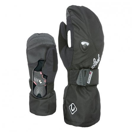 Level Butterfly Protection Mitten (Women's) - Black Leather