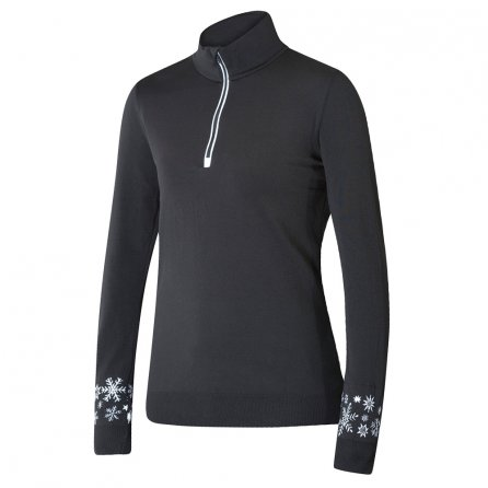Newland Marande 1/4 Zip Sweater Half-Zip Sweater (Women's) - Black/White