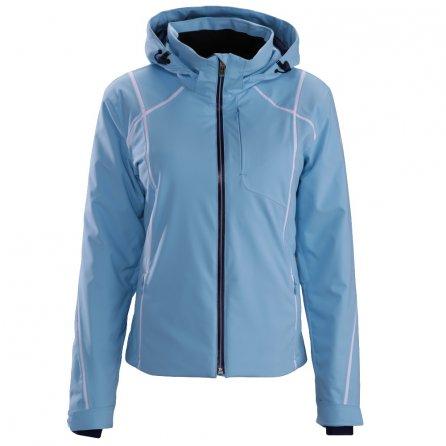 Descente Bree Jacket (Women's) - Ice Blue/Super White/Dark Night
