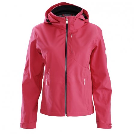 Descente Lotus Shell Jacket (Women's) - Crimson Pink/Black