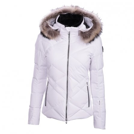 Descente Anabel Down Jacket with Real Fur (Women's) - Super White