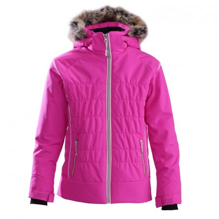 Descente Sami Jacket with Faux Fur (Girls') - Shock Pink