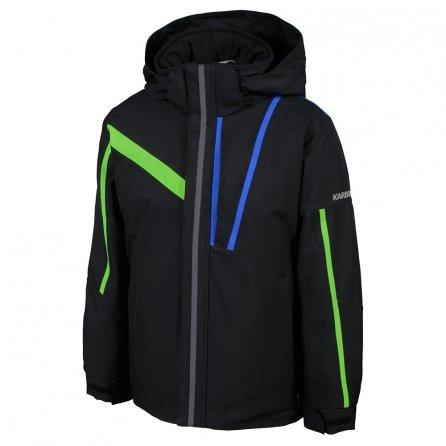 Karbon Jester Ski Jacket (Boys') - Black/Electric Green/Patriot