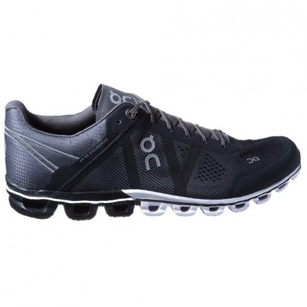 On Cloudflow Running Shoe (Men's) - Black/Asphalt