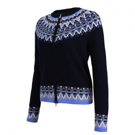 Bogner Stacey Full Zip Sweater (Women's) - Navy