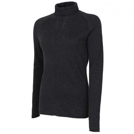 Krimson Klover Solid Skye Turtleneck Sweater (Women's) - Charcoal