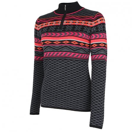 Krimson Klover Over Yonder 1/4-Zip Sweater (Women's) - Fuchsia