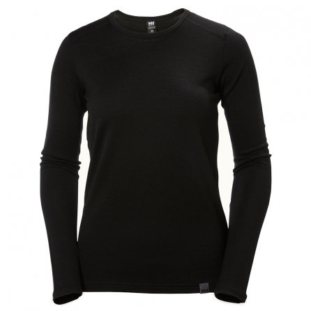 Helly Hansen Merino Mid Long Sleeve Crew Baselayer (Women's) - HH Black
