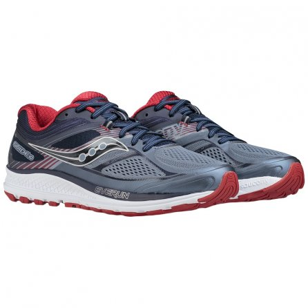 Saucony Guide 10 Running Shoe (Men's) - Grey/Navy/Red